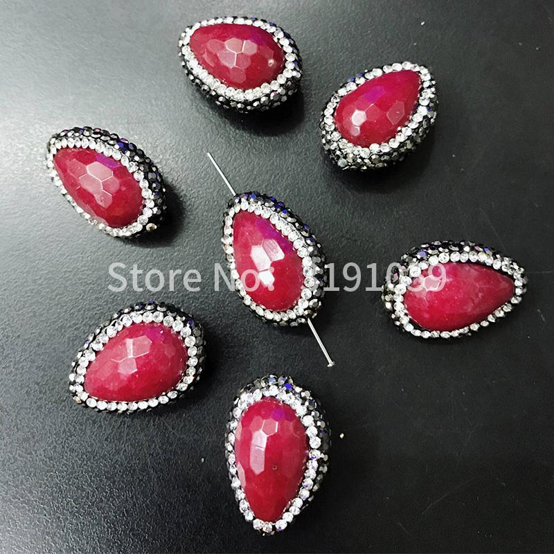 Red drop beads fashionable elegant personality and elegant necklace bracelet pendant sweater chain