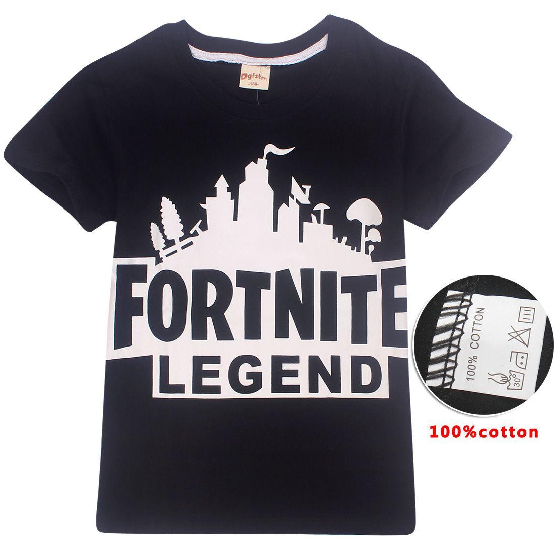 Boys Girls Fortnite T Shirt 2018 New Children Game Cartoon Cotton