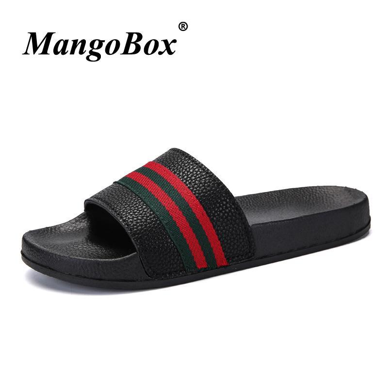 les hommes respirable pantoufles chaussures respirable hommes plage l'été l'été à plat 490d4d
