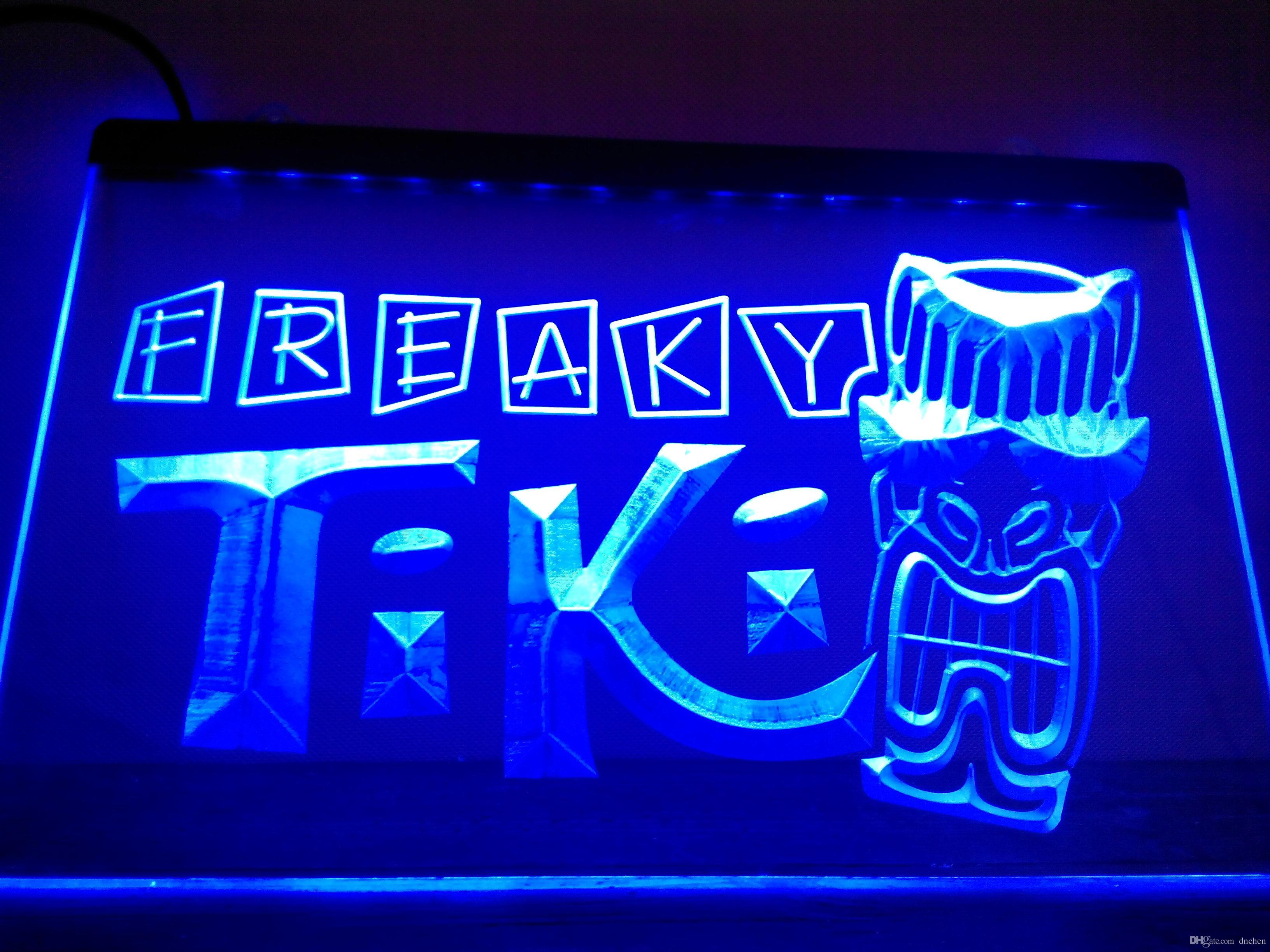 Lm092 b freaky tiki bar mask pub beer neon light signled light sign lm092 b freaky tiki bar mask pub beer neon light signled light sign bar signs open signs open signs acrylic neon light sign led sign online with mozeypictures Image collections