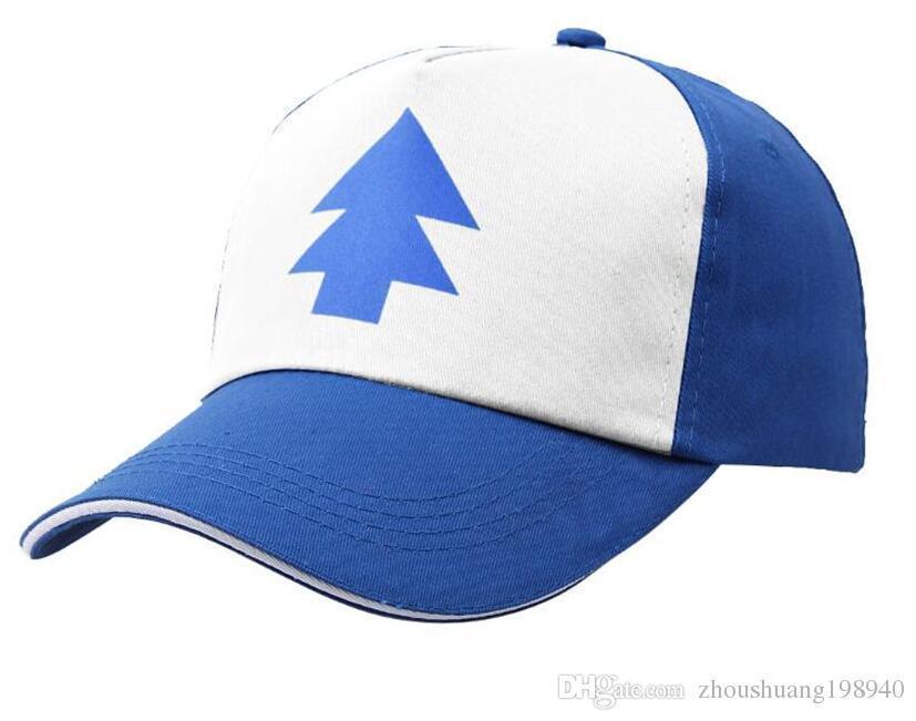 9031071b38f5d Boy Girls Hats BLUE PINE TREE Trucker Snapback Caps Cartoon New Curved Bill  Dipper Children Gravity Falls Trucker Cap Kids Hat Stores Custom Trucker  Hats ...