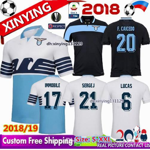 ee9ba08d02d 2019 2018 New Lazio Home Soccer Jerseys 18 19 Away F.ANDERSON LUCAS KISHNA  BASTA D JORD JEVIC KEITA IMMOBILE LULIC Football Shirts Uniform From ...
