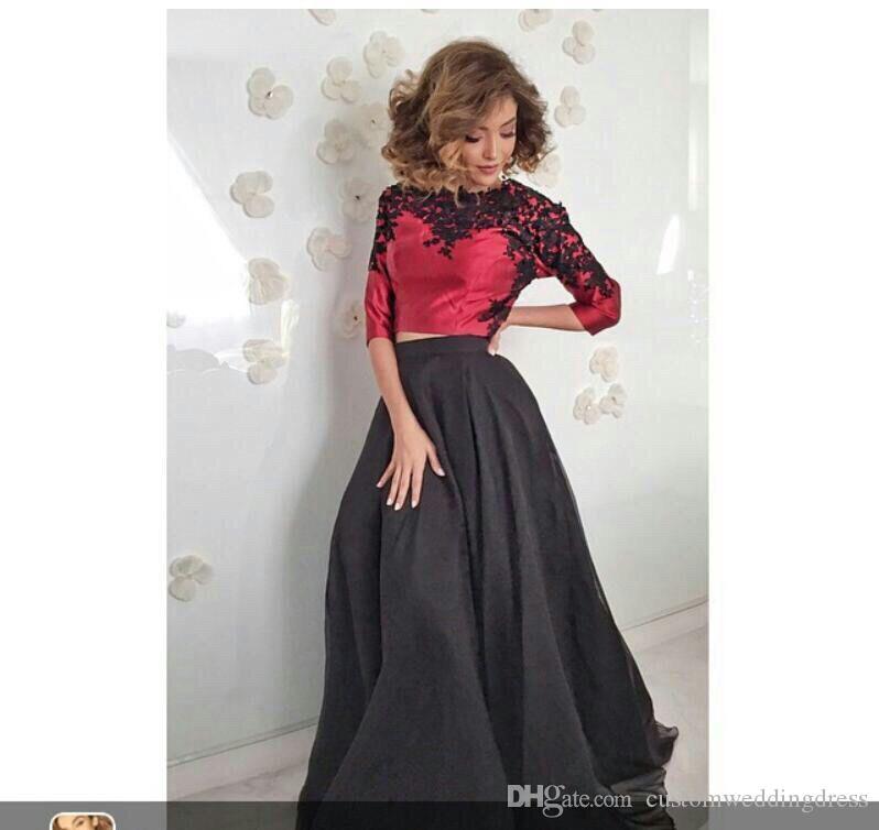 Nouvelle arrivée en mousseline de soie Arabie Saoudite longue robe de soirée 2018 Plus la taille de la mère des robes de mariée Abendkleider