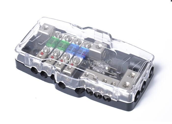 Automotive Multi-Function Fuse Cartridge with LED Light - Quad 30A/60A Fuse  Box Multiple AFS Fuse