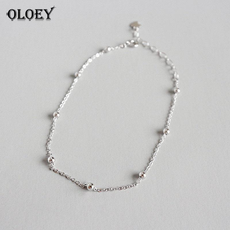 b90e7fa92b7 2019 OLOEY Authentic 925 Sterling SIlver Anklet For Women Girls Chain Ball Charms  Foot Jewelry Leg Bracelet Fine Jewelry Gift YMA006 From Fengzh