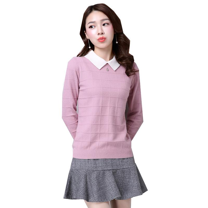 2fae6a066d 2019 High Quality Spring Autumn Fashion Thick Section New Korean Version  Short Sweater For Women Slim Lapel Lady Sweater Loose Shirt From  Salllyjhonson