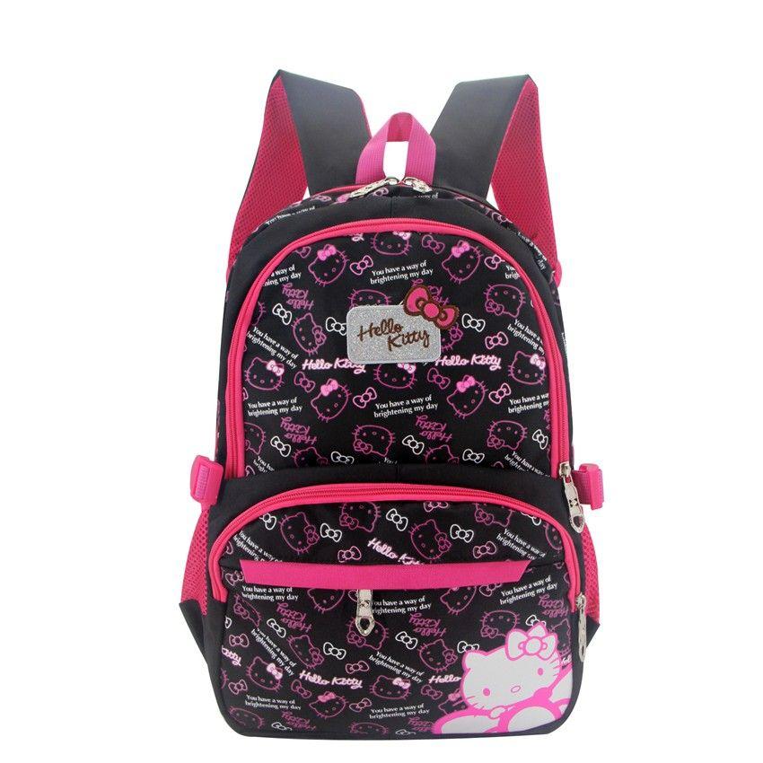 Cute Hello Kitty Backpacks Children Schoolbag Cartoon Cat School Bags For  Girls School Backpack Kids Bag Satchel Mochila Escolar Online with   83.37 Piece on ... 3bdf59dc69faa