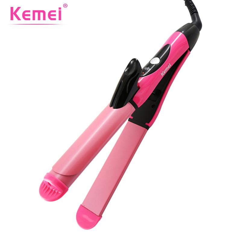 574dfd763d84 KEMEI 2 In 1 Professional Hair Curler Straightener Ceramic Wave Flat Iron  Curling Iron Straightening Brush Styling Tools BT 204 Good Cheap Hair  Straightener ...