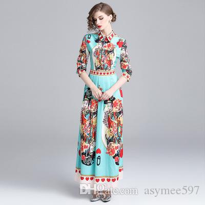 Fashion New Women's Thinnes Lap Top Printing Dresses,Nice Long Shirt Skirts,9/10 Long Sleeve,Lapel Neck