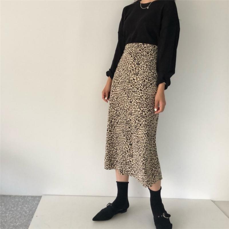 047307ddf7fcb6 2019 2018 Summer Leopard Print Skirts Womens High Waist Sexy Long Skirts  Harajuku Streetwear Plus Size A Line Skirt Faldas Jupe From Buttonhole, ...