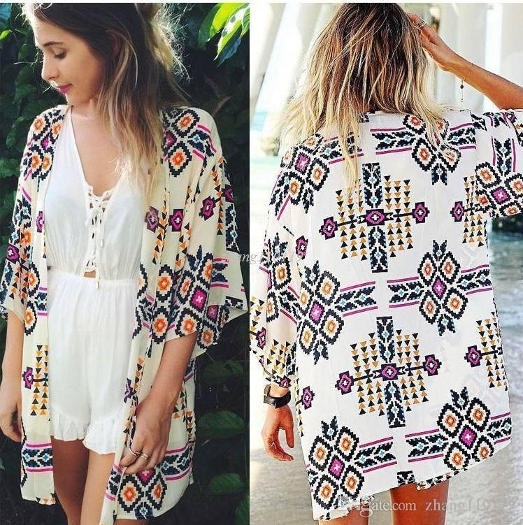6363e92d0b3 2019 2018 Autumn Shirt Style New Tops Women Blouses Printed Shirts Casual  Camisas Vintage Kimono Cardigan Plus Size From Zhang110119