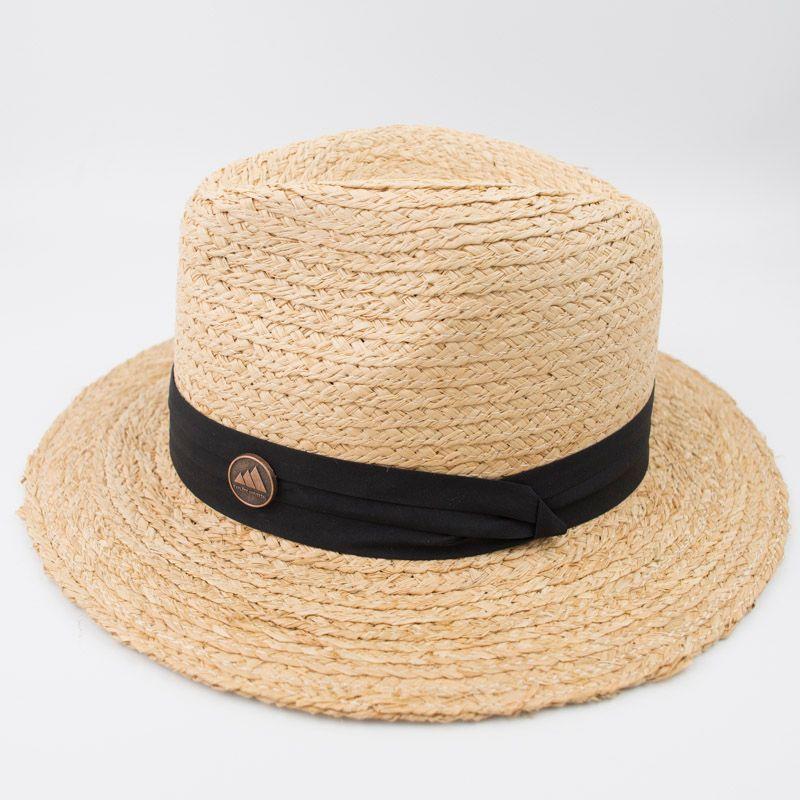 e7381d7a7de EPU MH1830 Natural 100% Raffia Straw Braid Man   Woman Fashion Vintage  Classic Panama Aussie Hat For Summer Sun Protection Outdoor Garden Wool Hat  Black ...