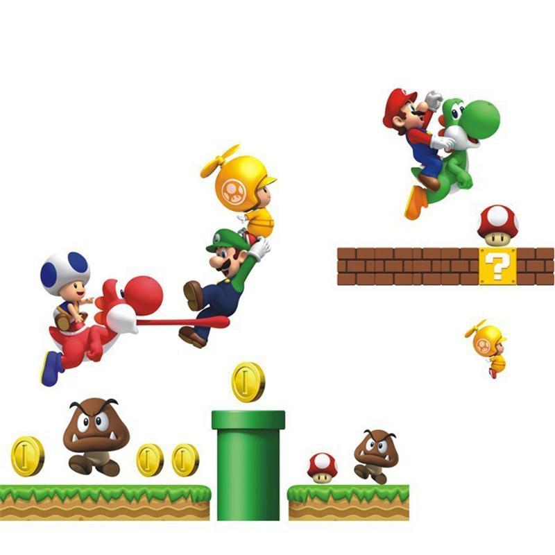 Compre Decoración De Dibujos Animados Super Mario Bros Pegatinas De ...