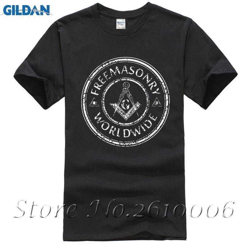 c1cd78abac463a Camisa maçom Presentes Símbolo Maçons Maçons Acessórios Maçônicos Emblemas  T-shirt Hipster Legal O Pescoço Tops