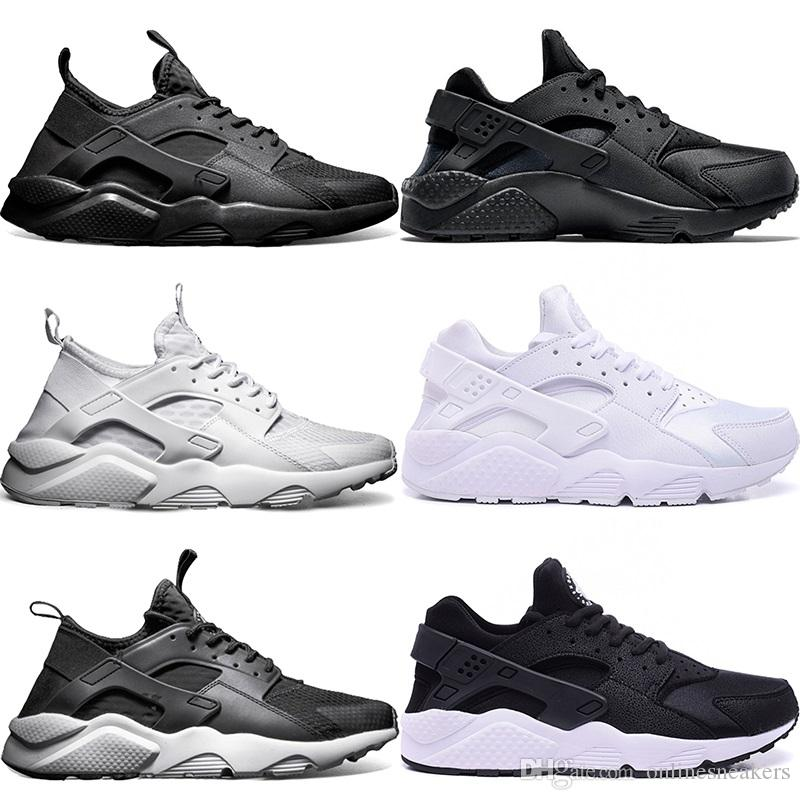 77294997ce011 Huarache Ultra Running Shoes Men Women Triple White Core Black Red ...