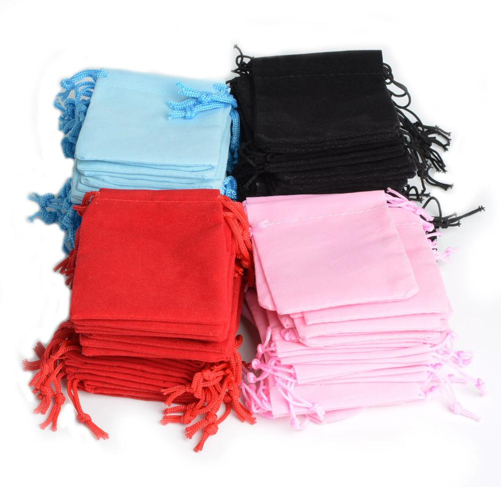 2016 New Gift Box Fabric Pouches Jewelry Display Wholesale Mix Color 5x7cm Velvet Bag/jewelry Bag/organza Pouch #90002