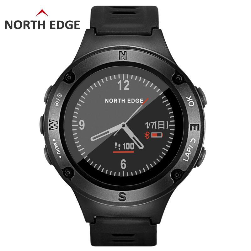 Compre NORTH EDGE GPS Para Hombres Reloj Deportivo Relojes Digitales Militar  Resistente Al Agua Frecuencia Cardíaca Barómetro Del Altímetro Brújula Horas  ... 82d7d7b7ca93