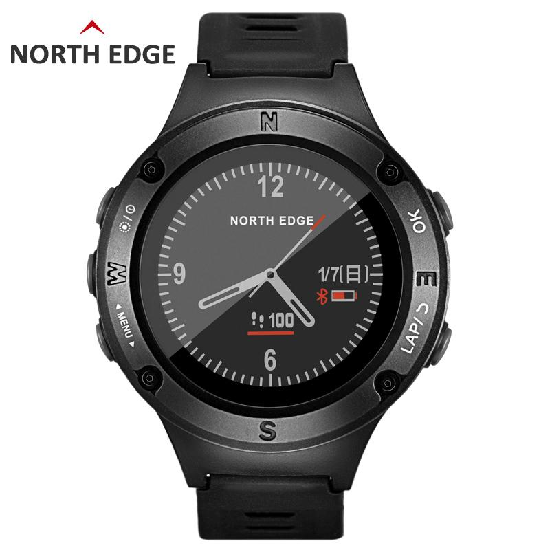 29a35aadb NORTH EDGE Men s GPS Sports watch Digital watches Water resistant military  Heart Rate Altimeter Barometer Compass hours running