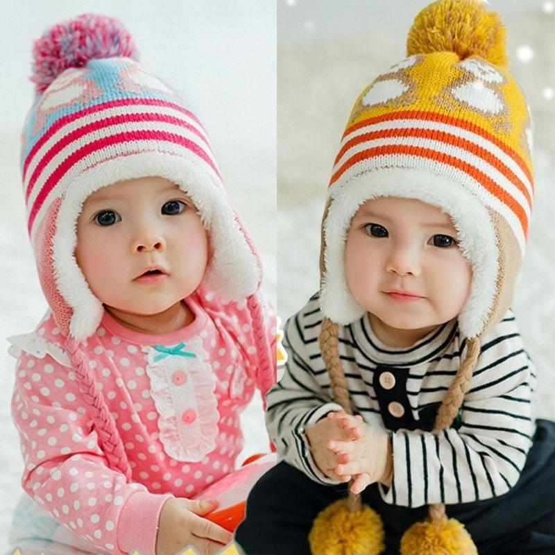 d2890b15f11 2019 Trendy Winter Baby Hat Cap Warm Cute Animals Kids Boys Girls Toddler  Knitted Beanie Fashion Winter Knittingbeanie Knitted Cap Baby Hats From ...
