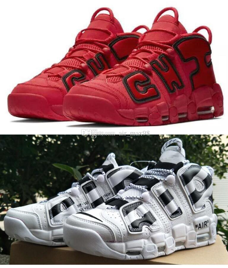 7a639de464d8 2018 Newest Release Air More Uptempo SUPTEMPO Mid Gold Black For Men S  Basketball Boots Scottie Pippen Shoes High Quality Sneaker Boys Tennis Shoes  On Sale ...