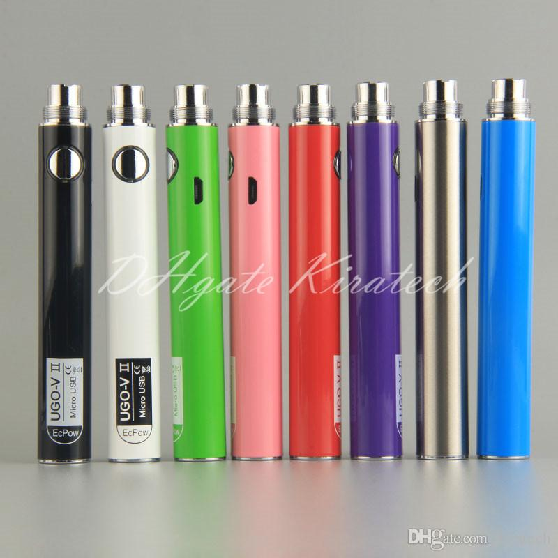 eGo Vape Ecig Battery UGO-VII Original UGO Batteries UGO-V II Vape Pen For MT3 H2 Globe Glass CE4 CE5 510 Thread Vaporizer Atomizers