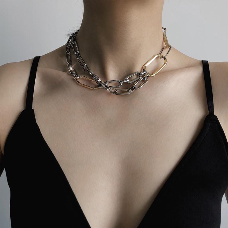 b0c47fce8dab Compre Hecho A Mano Hombres Mujeres Unisex Collar De Cadena Heavy Duty  Candado Gargantilla Collar De Metal C18110201 A  20.19 Del Tong06