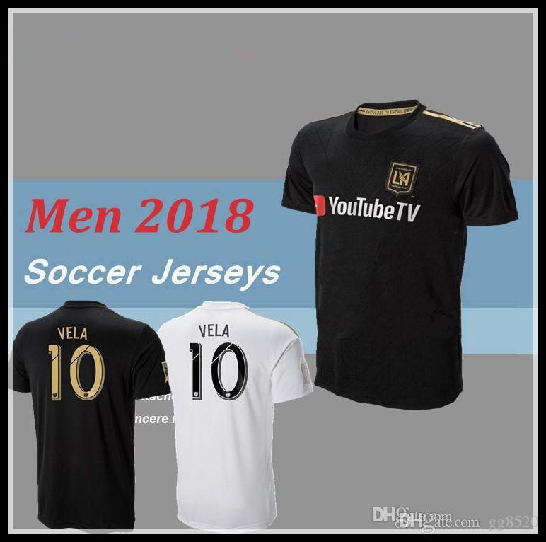 2019 2018 LAFC Carlos Vela Soccer Jerseys 18 19 Home GABER ROSSI CIMAN  ZIMMERMAN Black Primary Men Kit TOP Quality Football Shirts From Gg8520 02f5071f9