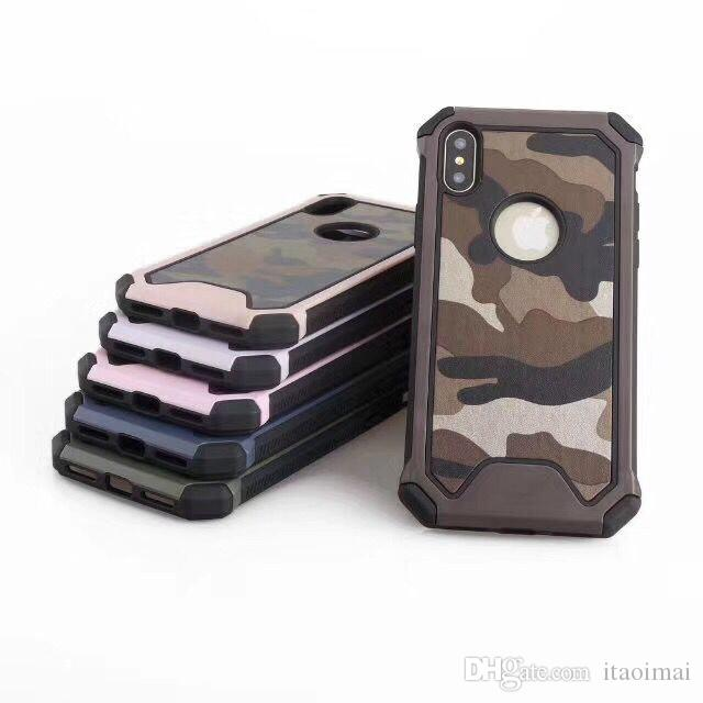 army camouflage case luxury hybird armor shockproof cover for iphone 6 7 8 plus x galaxy s7 edge note8 s8 plus phone cover customized phone cases from