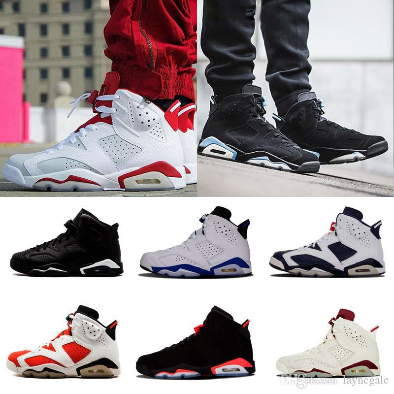 Cheap Shoes 6s Mens Basketball Shoes Infrared Maroon Carmine Olympic Red  Black Angry Bull Sneaker For Online Sale Size 8 13 Shoes Jordans Sneakers  On Sale ... b4b617b8f33