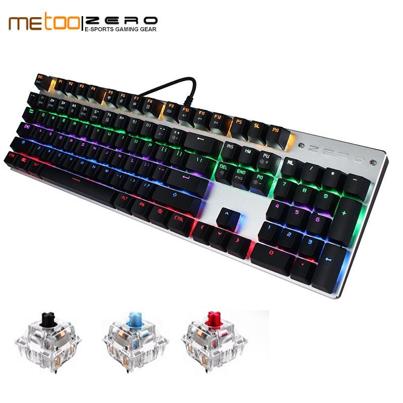 da184e76985 Metoo Edition Gaming Mechanical Keyboard 104/87 Keys Blue/Red/Black Switch  LED Backlit Usb Wired Keyboard For Tablet Computer Keyboard Online Keyboard  Sale ...