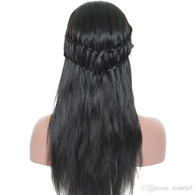 130% Full Lace Human Hair Wigs Peruvian Silk Top Full Lace Wig 8A Silky Straight Lace Front Human Hair Wigs For Black Women