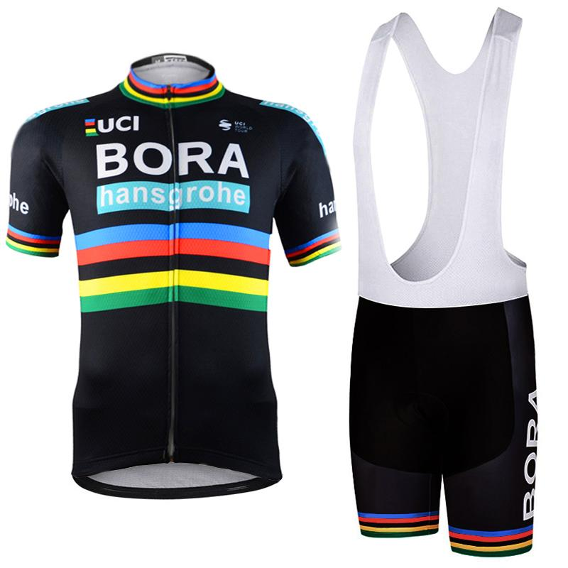 11c25bbea 2018 Bora Cycling Team Clothing Bike Jersey Quick Dry Mens Bicycle Clothes  Short Sleeves Pro Cycling Jerseys Gel Bike Shorts Set Drop Ship Cycle Wear  ...