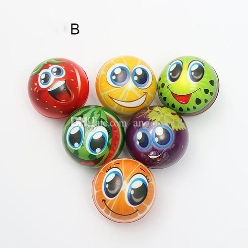 14 styles Emoji Face Squeeze Balls Stress Relax toy Vegetables Fruits Dinosaurs Christmas Halloween Monster squishy balls 6.3cm C2652
