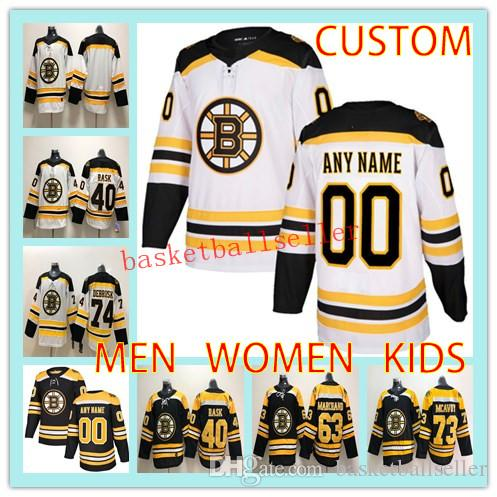 0b1a95345 Custom BOSTON BRUINS MEN WOMEN KIDS Hockey Jersey Any Name Number 40 ...