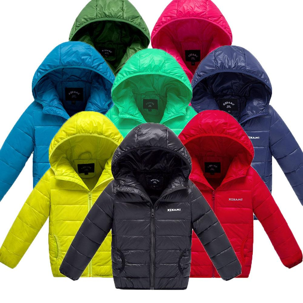 0b698ff16b26 Winter Boy And Girl Clothes Candy Colors Coat Top