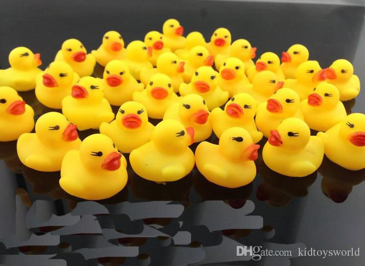 Wholesale /bag Baby Bath Toy with Sound Kids Mini Yellow Rubber Duck Swimming Bathe Gifts made in china