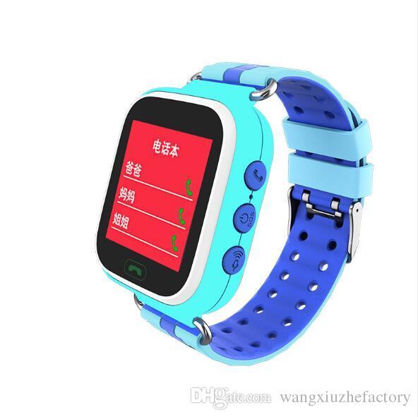 c1c4f0d2a9b1 Smartwatch Phone Reloj Inteligente Para Niños Q523 Ubicación GPS Pulsera  Deportiva SOS Impermeable Llame A Bluetooth Reloj LCD De 0.96 Pulgadas Anti  Perdido ...
