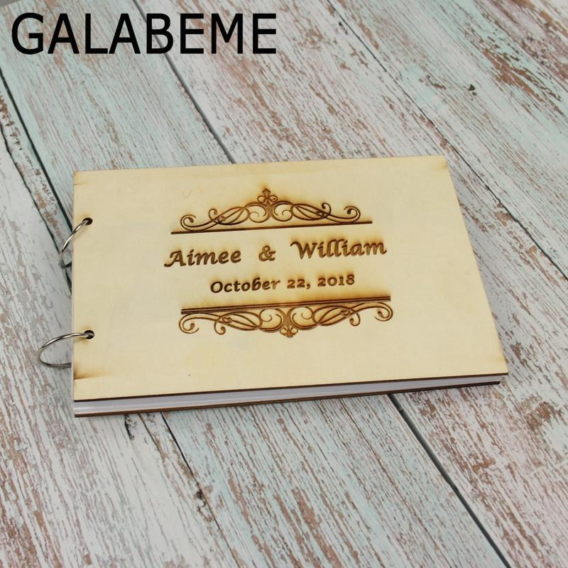 2018 wholesale personalised wreath wedding guest book gift for couples rustic guest book bridal shower gift vintage wedding book from youerwedding