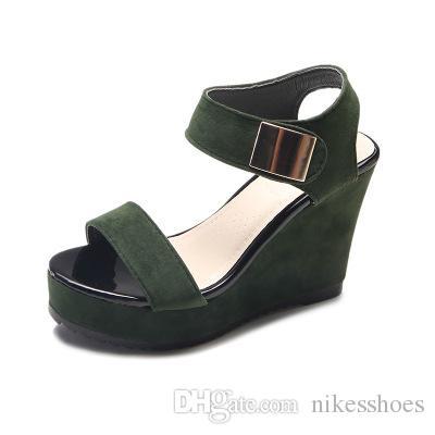 semelles épaisses nouvelles sandales façon coréenne sandales loisirs sandales coréenne muffin 9ac058