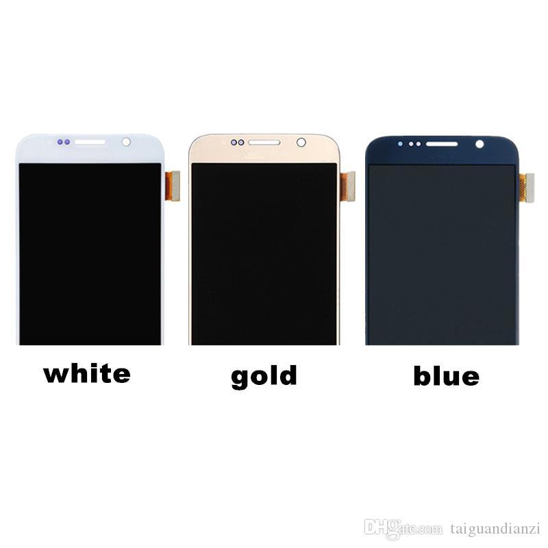 5.1 'Samsung galaxy S6 Için lcd ekran dokunmatik ekran digitizer G920i G920P G920f G920V G920A G920W8 samsung s6 için lcd 100% test
