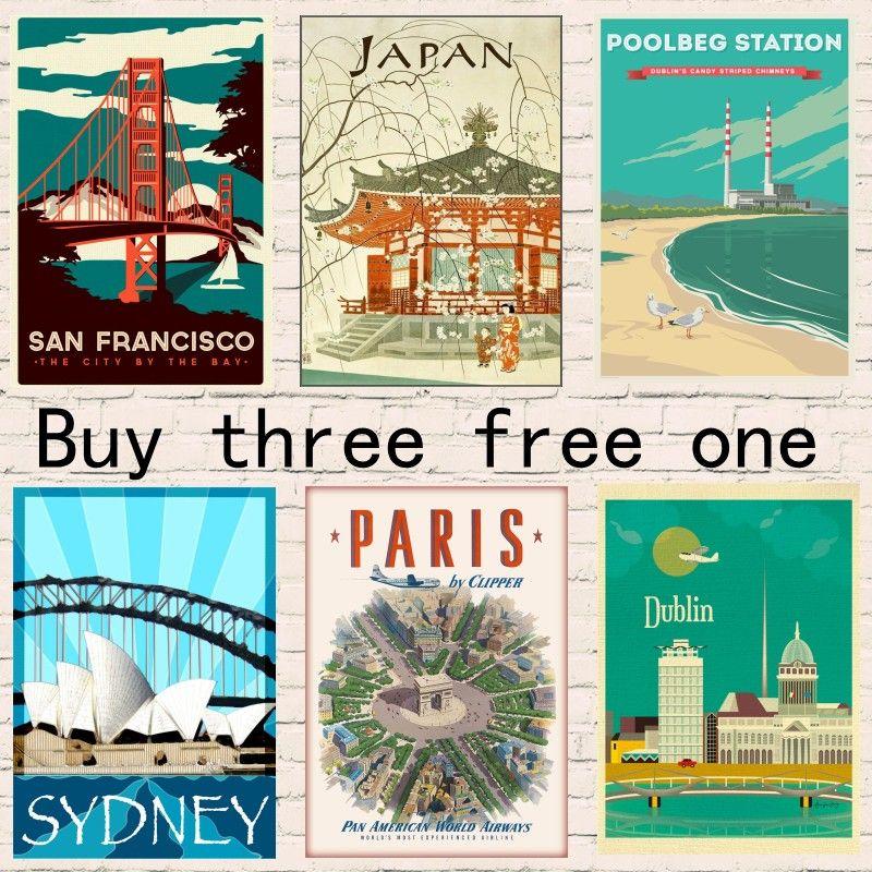 Großhandel Hawaii / Japan / Paris / Sydney Reise Poster Vintage ...