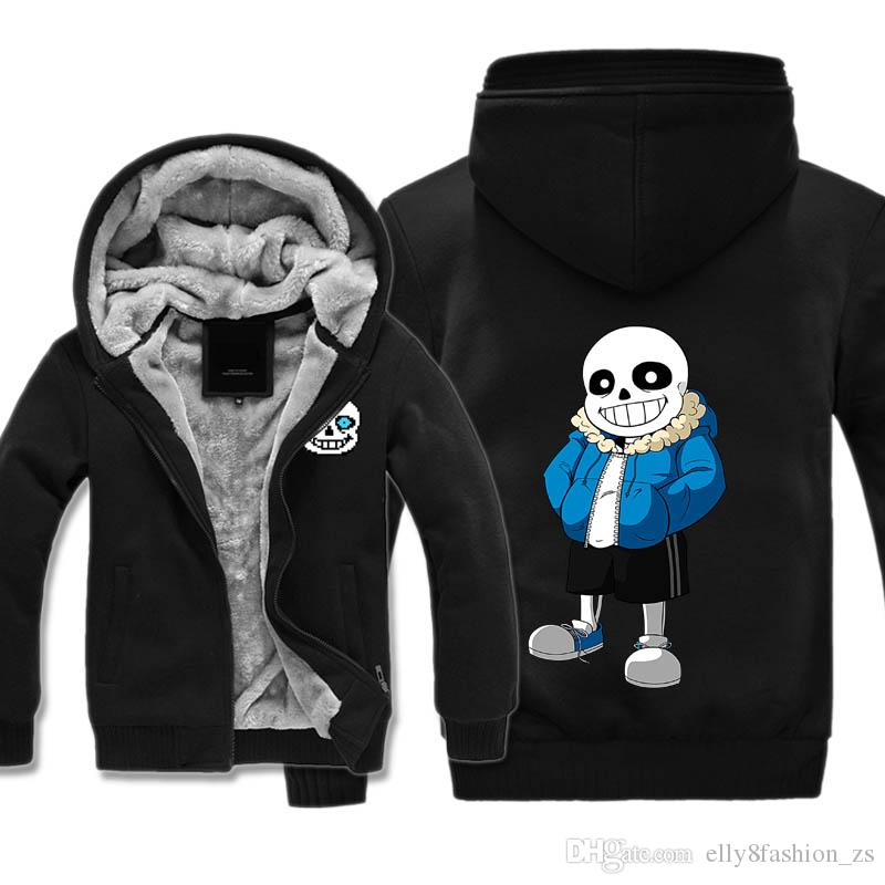 undertale Costumes Thickness Hoodies Adult Velvet Baseball Sweatshirts Sans men Winter Jacket Hat Coat M-5XL Big size