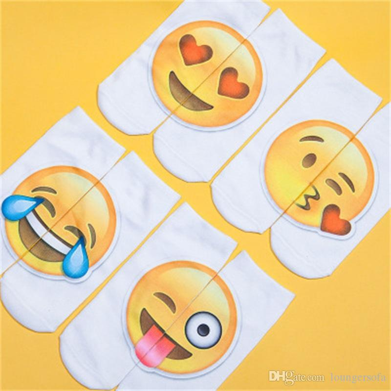 Personal Socks Printed Hosiery Emoji Cartoon Express Packaging Foreign Trade Bursting Hot Transfer Fashion Popular Factory Direct 2 1ds dd