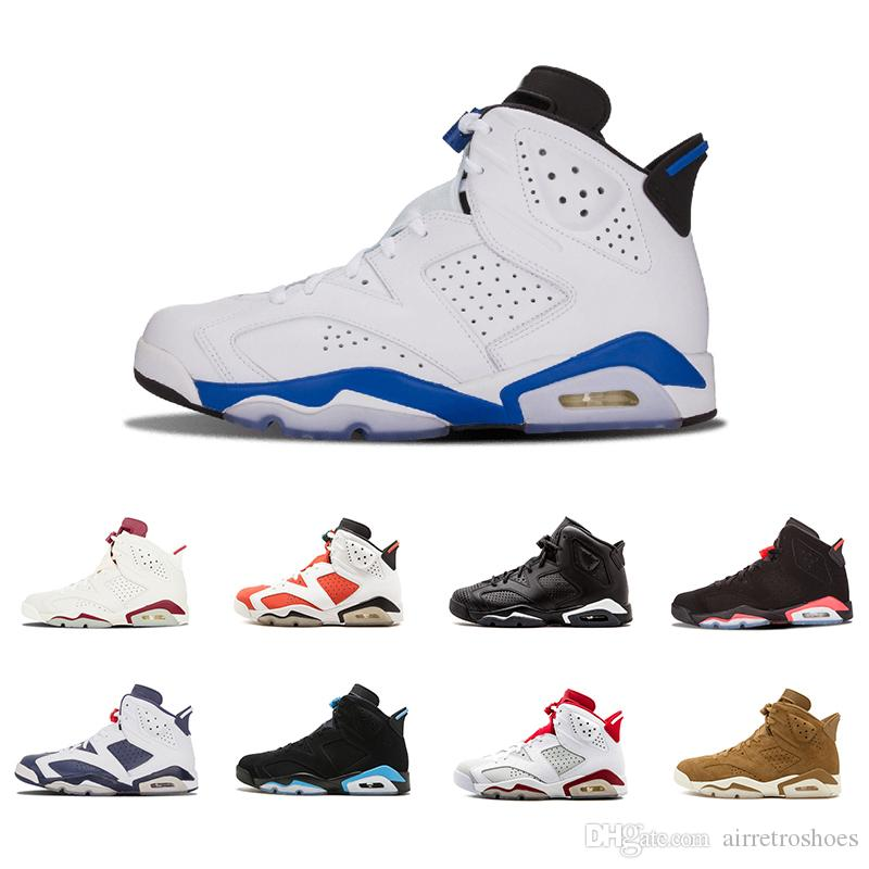 6471db386dc055 Newest 6 6s UNC Mens Basketball Shoes Sport Blue Black Blue High Quality 6s  Men Women Infrared Gatorade Wheat Sports Sneakers Shoes 8 13 Shoes Jordans  ...