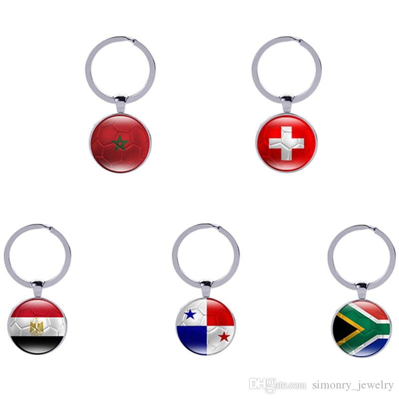 Football Keychains World Cup Keyrings Flags Soccer Fans Souvenir Fashion  Men Women Key Holder Jewelry Accessories Wholesale Promotional Keyrings  Custom ... 7d3ac2beca