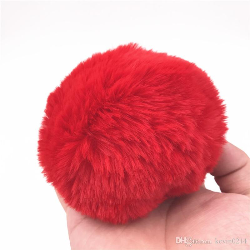 Anal Plug Paslanmaz Çelik Tavşan Kuyruğu Popo Eklemek Stoper Bunny Ponpon Kırmızı Kuyrukları Butt Plug Anal Seks Oyuncakları H8-1-61E