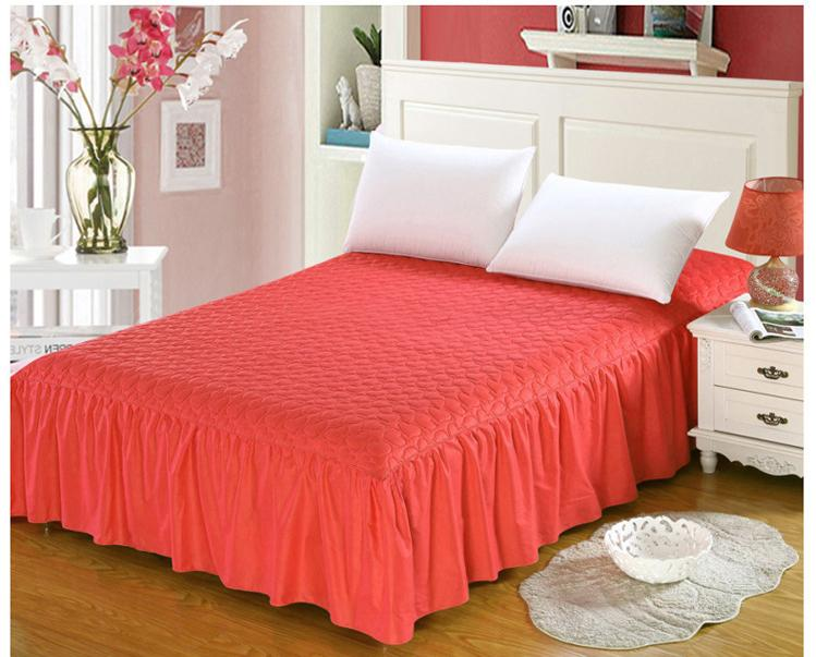 Thicker Mattress Cover Bedspreads Cotton+Thick, Add Quilted Bed Skirt Bed  Cover Cotton Lace Elastic Band Fitted Sheet Skirt Bed Skirt Cheap Bed Skirt  ...