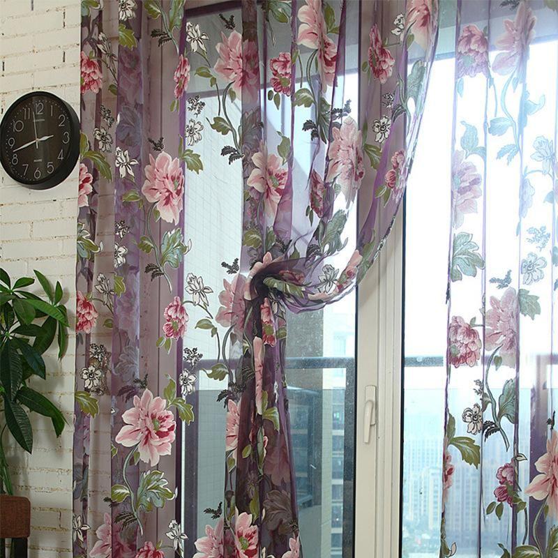 2019 New Creative Designer Living Room Window Curtain Yellow And ...
