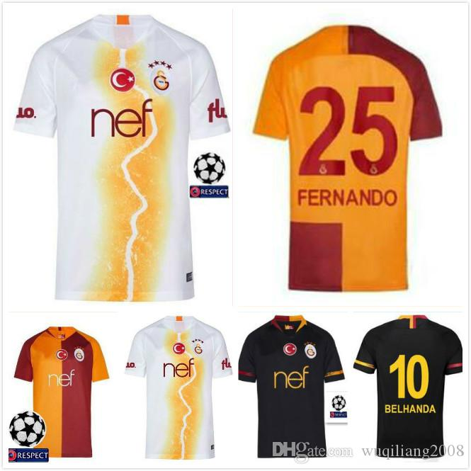 2019 Best!! 2018 2019 New Galatasaray Soccer Jersey Home Champions League 18  19 Away 3rd CIGERCI BELHANDA FERNANDO FEGHOULI FOOTBALL Kit SHIRT From ... 32211d854