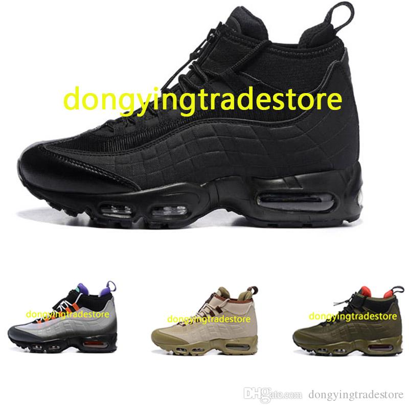 923763087ac55a Hot Sale Cushion 95 Mens Shoes 95 Sneakerboot Black Army Green Running Shoes  Training Sneakers Sport Shoes Shoe Shop Mens Sale From Dongyingtradestore